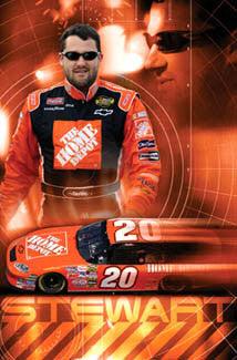 "Tony Stewart ""Smoke"" NASCAR Home Depot #20 Racing Action Poster - Costacos Sports 2005"