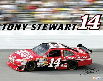 "Tony Stewart ""Blazing #14"" NASCAR Action Poster - TF Publishing"