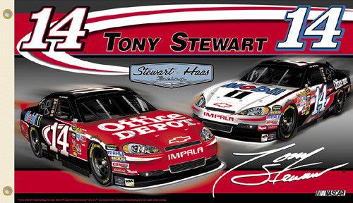 "Tony Stewart ""Tony Nation"" (2011) NASCAR #14 Chevy Impala 3'x5' Flag - BSI"