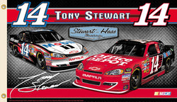 "Tony Stewart ""Tony Nation"" (2012) NASCAR #14 Chevy Impala 3'x5' Flag - BSI Products"
