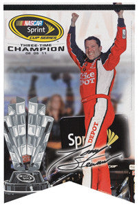 "Tony Stewart ""Celebration"" 2011 Sprint Cup Champ Commemorative Banner - Wincraft"