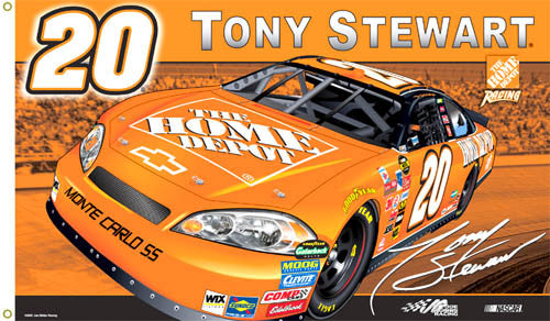 "Tony Stewart ""Stewart Nation"" 3'x5' Flag - BSI Products"