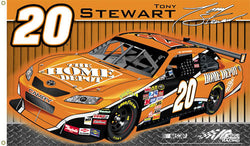 Tony Stewart 'Stewart Nation' 3'x5' Flag - BSI 2008