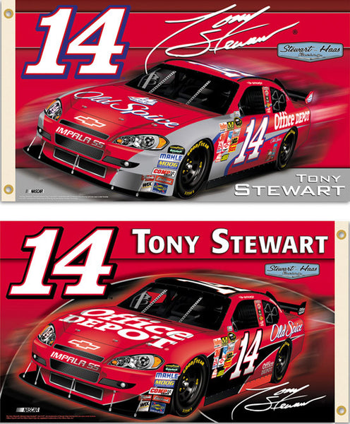 "Tony Stewart ""New Era"" 2009 NASCAR #14 Chevy Impala 3'x5' Flag"