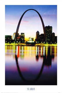 "St. Louis ""Arch at Dusk"" - Portal Publications 2004"