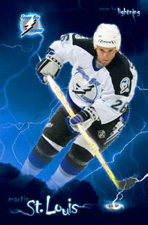"Martin St. Louis ""Lightning Strike"" Tampa Bay Lightning Poster - Costacos 2005"