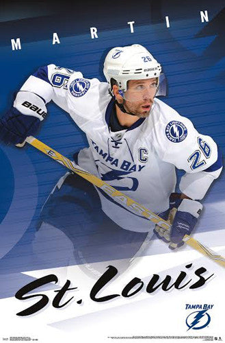 "Martin St. Louis ""Farewell Captain"" Tampa Bay Lightning Poster - Costacos 2014"