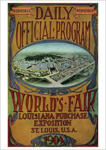 St. Louis 1904 Olympic Games Official Poster Reprint - Olympic Museum