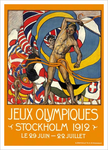 Stockholm 1912 Olympic Games Official Poster Reprint - Olympic Museum