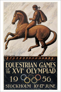 Stockholm 1956 Equestrian Olympic Games Official Poster Reprint