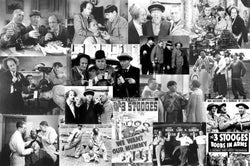 The Three Stooges Collection Poster (Historic 15-Image Collage) - Studio B.
