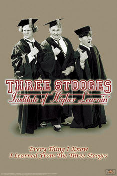 "The Three Stooges ""Higher Learnin'"" Poster - Studio B"