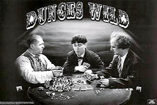"The Three Stooges Poker Game ""Dunces Wild"" Poster - Studio B."