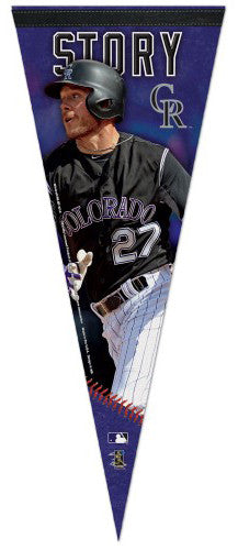 Trevor Story Superstar Series Colorado Rockies Premium Felt Collector's Pennant - Wincraft Inc.