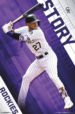 "Trevor Story ""Superstar"" Colorado Rockies Official MLB Baseball Action POSTER - Trends International"