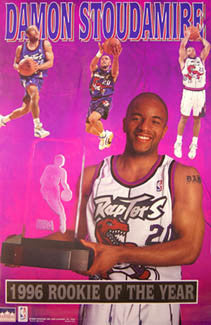 Damon Stoudamire Toronto Raptors 1995-96 NBA Rookie of the Year Commemorative Poster - Starline