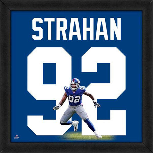 "Michael Strahan ""Number 92"" New York Giants NFL FRAMED 20x20 UNIFRAME PRINT - Photofile"