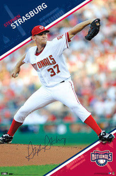 "Stephen Strasburg ""Signature"" Washington Nationals Poster - Costacos 2010"