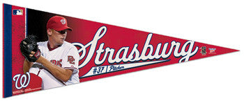 "Stephen Strasburg ""Action"" Premium Felt Collector's Pennant (LE /2010) - Wincraft"