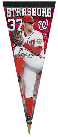 "Stephen Strasburg ""Signature"" Washington Nationals Premium Felt Collector's Pennant - Wincraft 2013"
