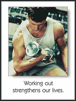 "Men's Fitness ""Strengthens Our Lives"" Dumbbell Workout Motivational Poster - Fitnus"
