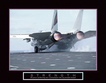 "Fighter Planes ""Strength"" Motivational Poster - Front Line"