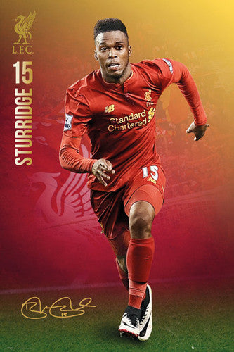"Daniel Sturridge ""Signature Series"" Liverpool FC Official EPL Football Poster - GB Eye 2016/17"