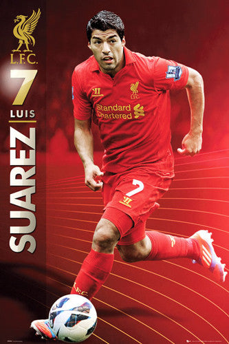 "Luis Suarez ""Superstar"" Liverpool FC Soccer Action Poster - GB Eye (UK)"