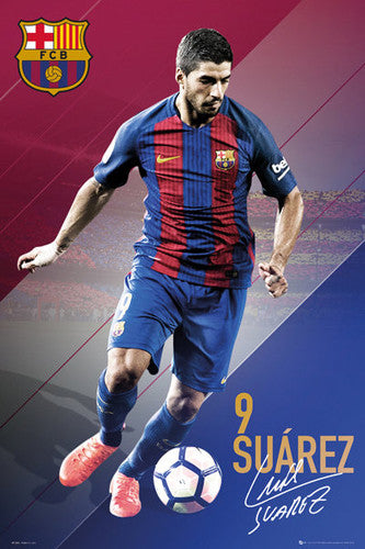 "Luis Suarez ""In Action"" FC Barcelona Signature Series Official Poster - GB Eye 2016/17"