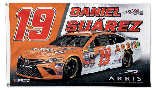 Daniel Suarez NASCAR Arris #19 Official HUGE 3'x5' Deluxe-Edition FLAG - Wincraft
