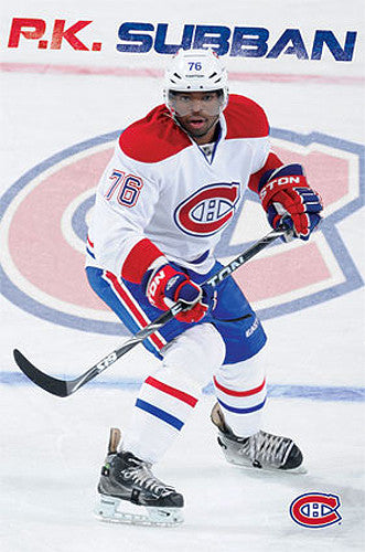 "PK Subban ""Defender"" Montreal Canadiens NHL Action Poster - Costacos 2013"