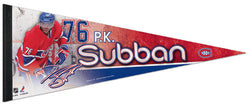 "PK Subban ""Superstar"" Montreal Canadiens Premium Felt Collector's Pennant - Wincraft 2013"