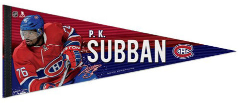 PK Subban Montreal Canadiens Signature Series Official NHL Hockey Premium Felt Pennant - Wincraft