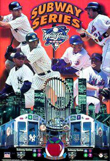 "World Series 2000 ""Subway Series"" (New York Yankees vs. Mets) Commemorative Poster"