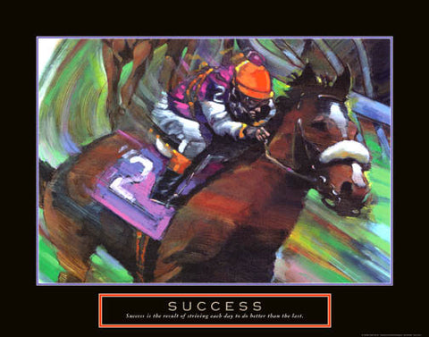 "Horse Racing ""Success"" Motivational Poster - Front Line"