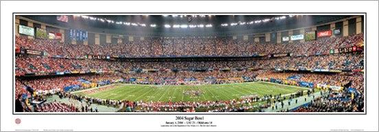 LSU Tigers 2004 Sugar Bowl Champions Superdome Panoramic Poster Print