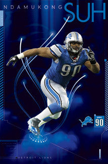 "Ndamukong Suh ""Superstar"" Detroit Lions Poster - Costacos 2011"