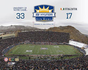 Sun Bowl 2010 Commemorative (Notre Dame 33, Miami 17) - Photofile 16x20