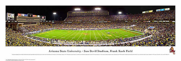 Arizona State Sun Devils Football Stadium Panoramic Poster Print - Blakeway 2007