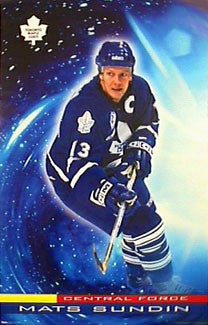 "Mats Sundin ""Central Force"" Toronto Maple Leafs Poster - Costacos 2000"