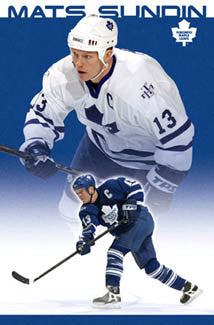 "Mats Sundin ""Double Action"" Toronto Maple Leafs Poster - Costacos 2005"