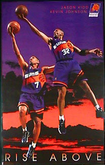 "Jason Kidd and Kevin Johnson ""Rise Above"" Phoenix Suns Poster - Costacos 1997"