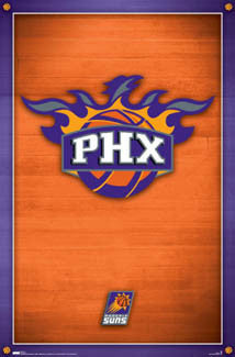 Phoenix Suns NBA Basketball Official Team Logo Poster (2007) - Costacos Sports