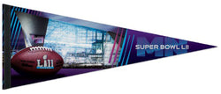 Super Bowl LII (Minneapolis, MN 2-4-2018) U.S. Bank Stadium Official Premium Felt Collector's Pennant - Wincraft