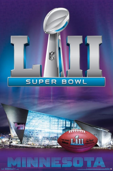 *SHIPS 10/30* Super Bowl LII (Minnesota 2018) Official Event Theme Art Logo Poster - Trends International