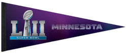 Super Bowl LII (Minneapolis, MN 2-4-2018) Official Premium Felt Collector's Pennant - Wincraft