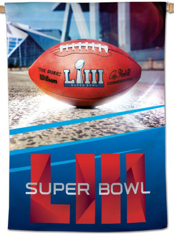 "Super Bowl LII (Atlanta 2019) Official NFL 28"" x 40"" Event BANNER - Wincraft Inc."