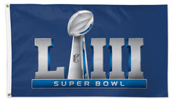 Super Bowl LIII (Atlanta 2/3/2019) Official Game Logo Deluxe-Edition 3'x5' Flag - Wincraft Inc.