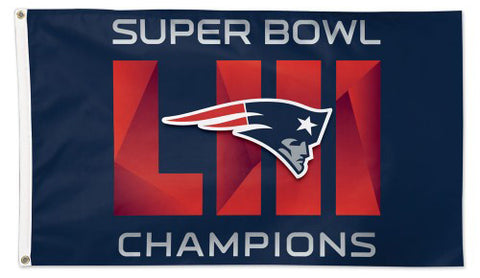 New England Patriots SUPER BOWL LIII (2019) CHAMPS Deluxe-Edition 3'x5' FLAG - Wincraft
