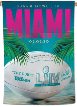 *SHIPS FEB 3* Super Bowl LIV (Miami 2020) Official NFL Championship Event 28x40 BANNER Flag - Wincraft Inc.